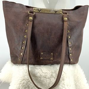 Patricia Nash large distressed leather tote